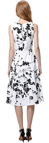 U-shot -  Vestito  - Senza maniche  - Donna White Floral
