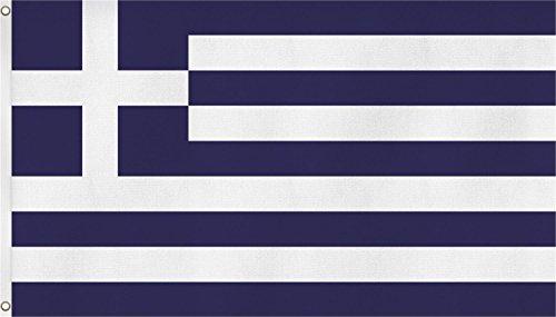 normani Fahne mit Messingösen 90 x 150, 150 x 250 oder 300 x 500 cm wählbar Farbe Griechenland Größe 90 x 150 -