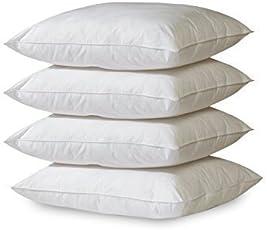 GOLD STERN 4 x Polyester Vlies Füllkissen 45x45 cm weiß   Inlett Kissen 30° Waschbar   Für Dekokissen, Kopfkissen, Sofakissen
