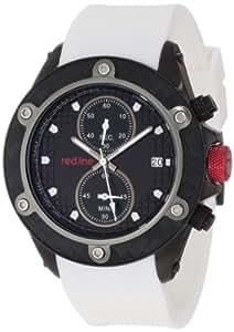 Red Line Carbon Brake Homme 45mm Chronographe Caoutchouc Bracelet Montre 10119DV