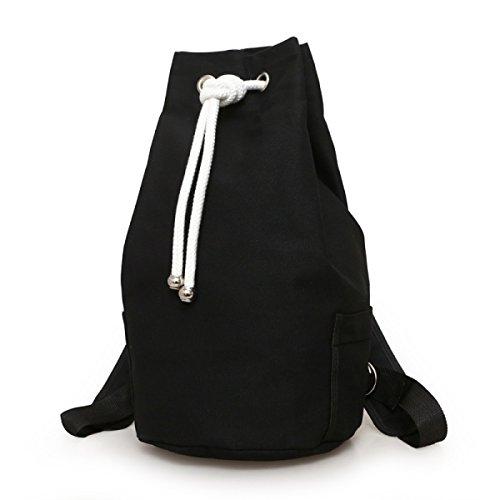 Canvas Tasche Eimer Sporttasche Mit Großer Kapazität Männern Tasche Eimer Basketball Tasche,Black