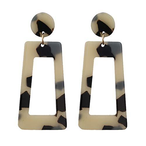 LILICAT_Schmuck Damen Kreative Geometrische Ohrringe,Damen Anhänger Ohrringe,Lange Ohrringe aus Metall,Persönlichkeit Trapezförmige Ohrringe -