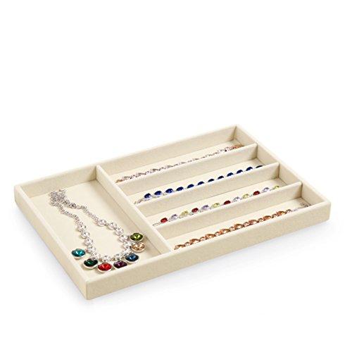 scatola di immagazzinaggio di semplici gioielli/Alta qualità velluto gioielli collana orecchino anello display vassoio/contenitore di orologio di moda-E