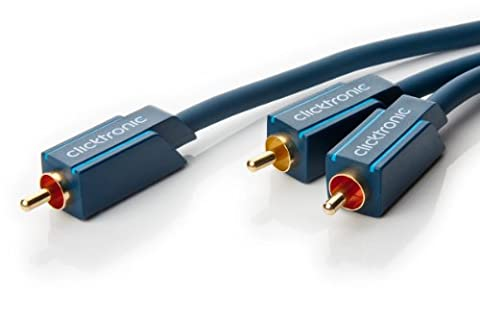 Clicktronic Casual Subwoofer câble (câble en Y pour subwoofer actif avec entrée stéréo) 15 m