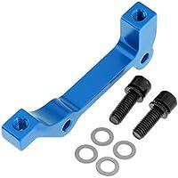 P PRETTYIA 1 Kit de Adaptador de Freno para Bicicletas Hecho de Aleación de Aluminio - Delantero Azul