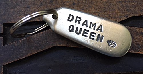 Drama Queen Antique Cutlery Silver Plated Handmade Key Ring/Fob