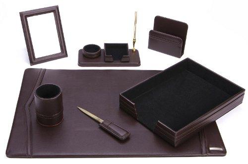 Office Supply 93-DSN7 Schreibtisch-Set, umweltfreundlich, Leder -