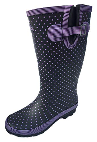 Ladies WIDE Calf Wellies Wellington Boots Plus Extra Comfort Memory Foam Insoles