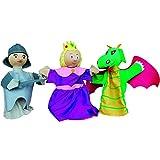 Au Sycomore -Coffret de Trois Marionnettes avec Livre d'Histoire - Trio