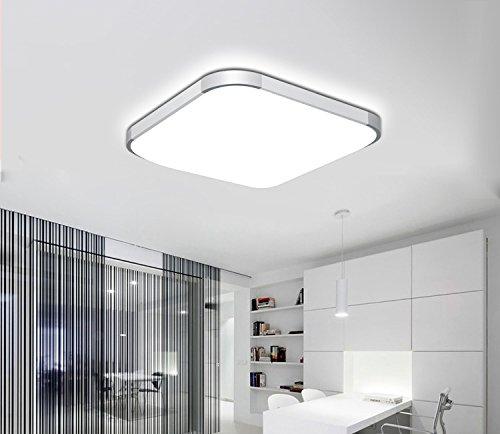 BAYTTER-12W-LED-Deckenleuchte-Deckenlampe-fr-Esszimmer-Arbeitszimmer-Schlafzimmer-usw-30-x-30cm-warmweikaltwei