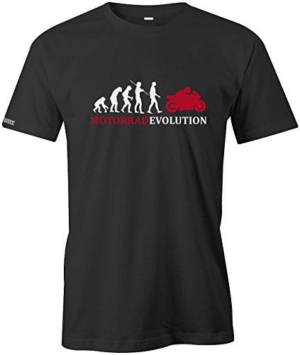 Jayess Motorrad Evolution - Herren T-Shirt in Schwarz by Gr. XL