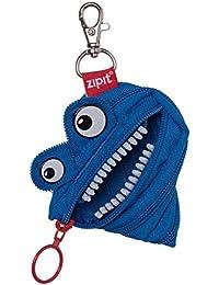 Zipit zptm-al-2monster purse made of a single, long, blue zipper
