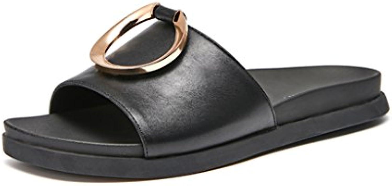 JIANXIN Sandali Sandali Sandali Femmina Pantofole Piatte Anello di Metallo Estate Casual E Confortevole Sandali di Un Pezzo 35... | diversità  | Scolaro/Signora Scarpa  93e3ae