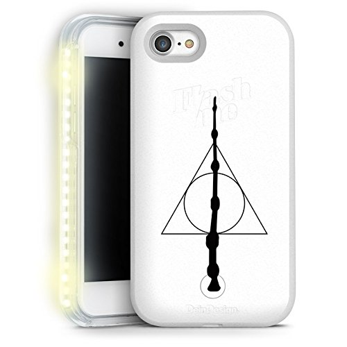 Apple iPhone 7 FlashMe Case LED Hülle Light Up Handyhülle Selfie Licht Hülle Zauberstab Harry Potter Heiligtümer