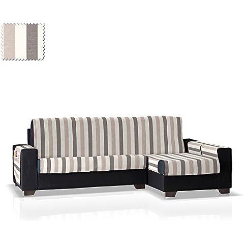 Cubre sofá Chaise Longue Elor, Brazo Derecho, tamaño grande (292 Cm.), Color 07 (varios colores