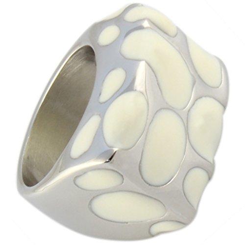 Band Unisex Acciaio inox Bianchi incollaggio Finito Fit confortevole 9 Dimensione 20 di (14k Diamante Tiffany Anello Setting)