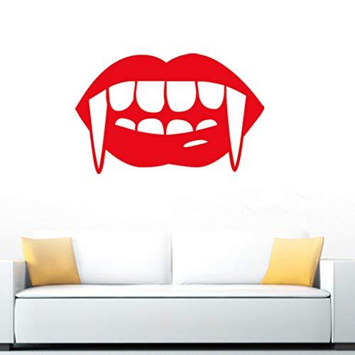 Red Lips Bar Halloween Wandaufkleber Schlafzimmer Wohnzimmer Dekorativer Aufkleber - Lip-bars