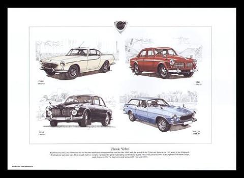 Classic Cars années 60–Volvo P1800, 122s, 123GT, p1800es–Art Print