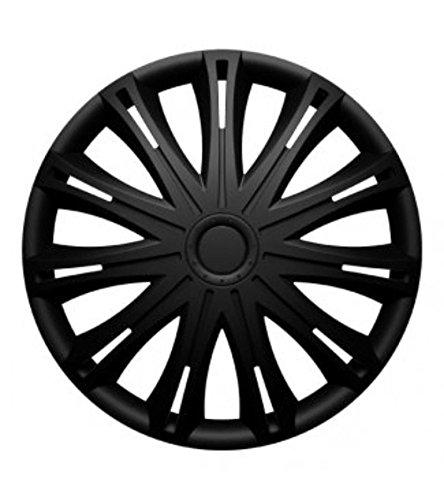 """Fussmatten-Deluxe Radkappen Radzierblenden schwarz 16 Zoll 16\"""" R16#SPA# für Fast alle Standard - Stahlfelgen z.B. Daihatsu"""