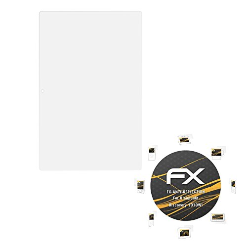 atFolix Panzerfolie kompatibel mit Blaupunkt Discovery 1010WI Schutzfolie, entspiegelnde & stoßdämpfende FX Folie (2X)