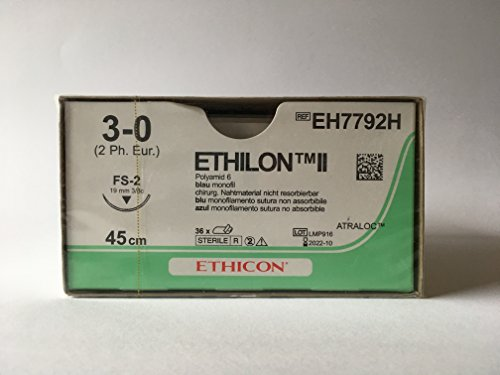 Topische Wundversorgung (Ethilon EH7792H Naht, II FS2, monofil, Blau (36-er Pack))