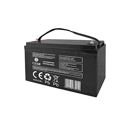 CSSB Gel-Batterie 12 V, 100 Ah 325 mm x 165 mm x 210 mm