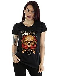 Bullet For My Valentine Femme Serpent Roses T-Shirt X-Small Noir