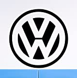 Pared Adhesivo Volkswagen Logo Volkswagen, vinilo, negro, pequeño