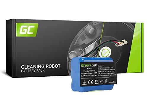 Green Cell® 4409709, GPRHC202N026 Akku für Wischroboter, Roboter Bodenwischer iRobot Braava 380, 380T, 390, 390T, Mint 5200, 5200B, 5200C (Ni-MH Zellen 2500 mAh 7.2V Blau) -