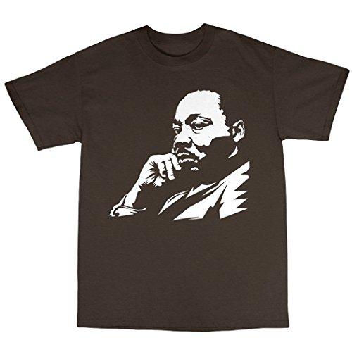 Martin Luther King T-Shirt 100% Baumwolle Zartbitter-Schokolade