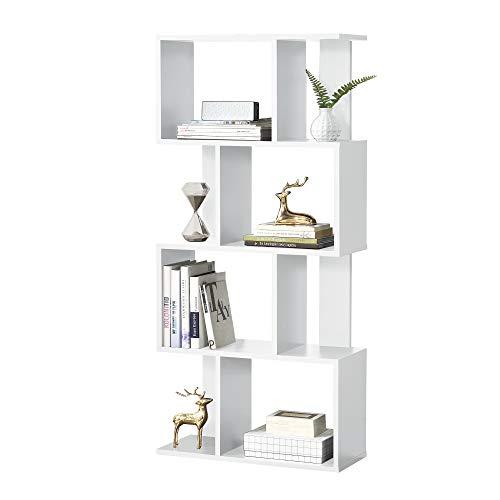 [en.casa]®] Librería 130 x 60 x 24 cm Estante para CDs Soporte...