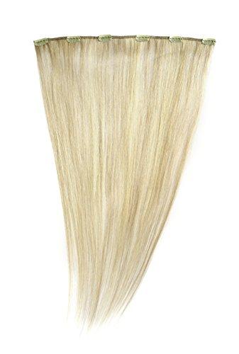 American Dream - A1/QFC12/18/22/25 - 100 % Cheveux Naturels - Barrette Unique Extensions à Clipper - Couleur 22/25 - Blond Plage / Blond Léger - 46 cm