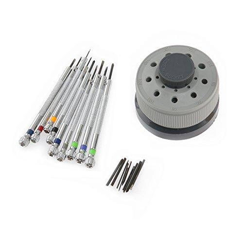 Nicerio Präzisions-Schraubendreher, 9 Stück in verschiedenen Größen, Uhrmacherwerkzeug, 0,5 - 2,5 mm