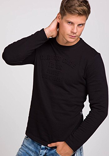 BOLF Herren Sweatshirt Langarmshirt Pullover Longsleeve Classic Mix 1A1 Motiv Schwarz_9096