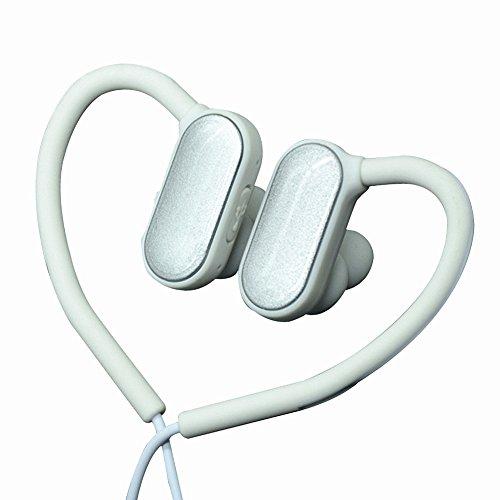 ,Dewanxin Wireless Kopfhörer Bluetooth V4.1Stereo Sportkopfhörer In Ear Halsband Sport Ohrhörer Rauschunterdrückung Noise Cancelling Super Bass Ohrhörer(Silber) ()
