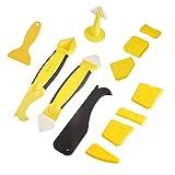 Y&J Silikonentferner&silikon 12 In 1 Fugenwerkzeug-Set Mit 7 Fugenglätter 3 Schaber Kit& 1 Stücke of Silikon-Dichtungsmittel Werkzeug 1CaulkingGunNozzle, 7 Pc