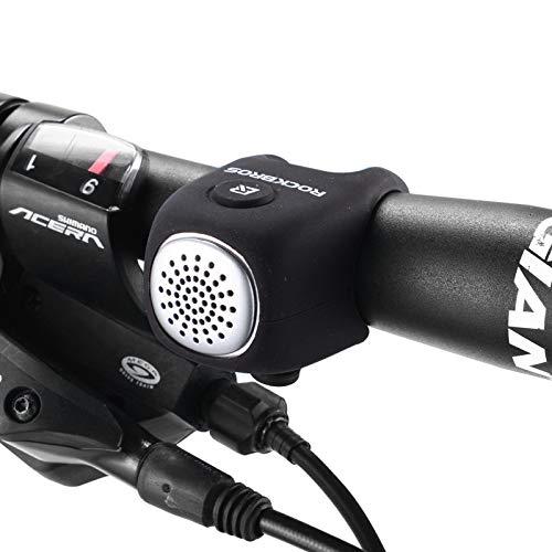 ROCKBROS Timbre Electrónico para Bicicleta Mini E-Bell Impermeable IPX4, Elástico, de Silicona, 80 dB
