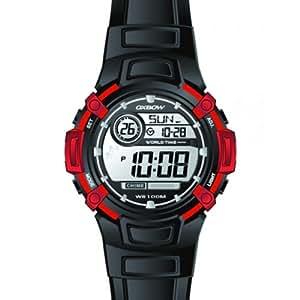 Oxbow - 4517402 - Montre Garçon - Quartz Digital - Cadran Gris - Bracelet Caoutchouc Noir