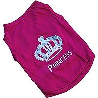 Mascota Perro Crown Princess perchero de pared de camiseta chaleco de verano cachorro Outfit Camisa Casual carcasa blanda