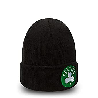 fe760977e7b New Era Boston Celtics Team Essential Cuff Knit Beanie  Amazon.co.uk ...