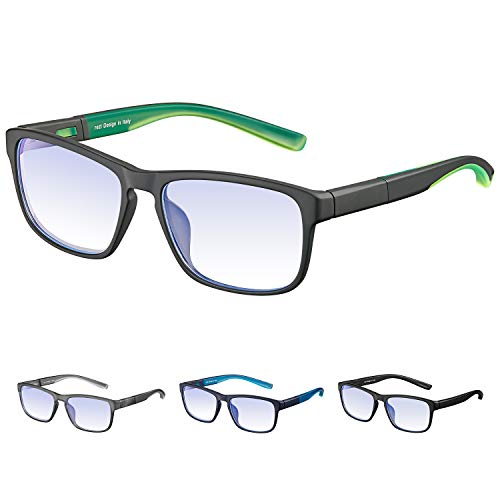 rezi Blaulichtfilter Computer-Gläser Anti Blaulicht Brille Optics Brillen– Hoher Schutz - für Handy/Fernseher/PC, Verringerung der Augenbelastung, Anti-Blaulicht, UV-Schutz