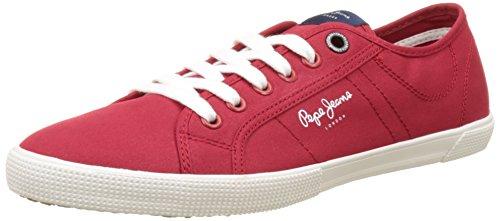 Pepe Jeans London Aberman 2.1, Scarpe da Ginnastica Basse Uomo Rosso (Factory Red)