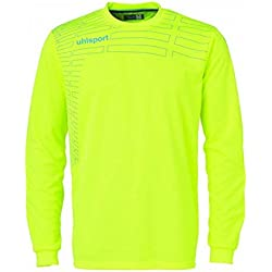 Uhlsport MATCH Junior Portero Set - fluo amarillo/cyan, S