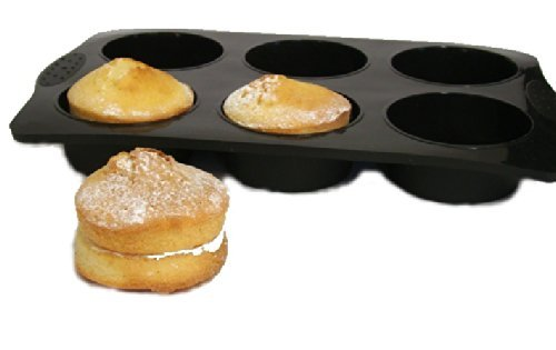 SiliconeCuisine - Moule pour 6 Gros Muffins Extra - de qualité supérieure - Antiadhésif - 10 Ans de Garantie