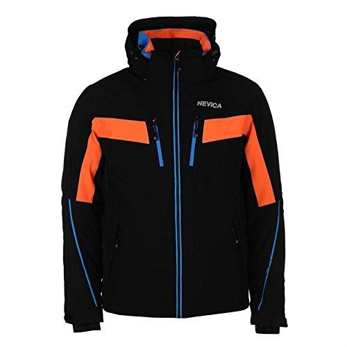 Nevica Herren Banff Ski Jacke Wasserdicht Winterjacke Schneejacke Atmungsaktiv Schwarz Small