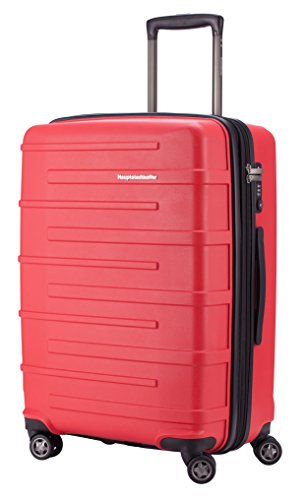 HAUPTSTADTKOFFER® 82 Liter (ca. 65 x 46 x 26 + 4cm) · Reisekoffer · OSTKREUZ · TSA Schloss · in verschiedenen Farben (Rot) Rot
