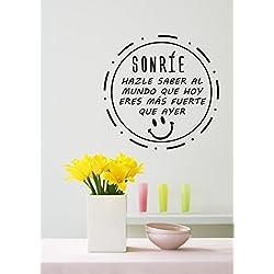 Pegatina adhesiva que viene con una cita positiva, ideal para personalizar tu salón.