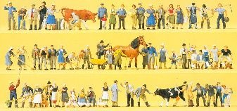 """Preiser 13001 H0 """"Auf dem Bauernhof"""", 60 Figuren"""
