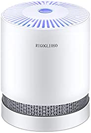 RIGOGLIOSO HEPA Air Purifier for Smoke, Pollen, Pet Dander, Odor, Dust Remove, Compact Air Purifiers for Home