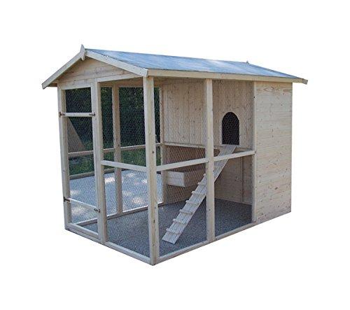 Poulailler géant 6-10 poules toit bitumé Variante Sans montage
